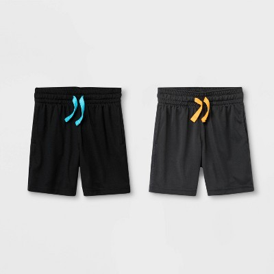 Toddler Boys' 2pk Athletic Shorts - Cat & Jack™ Charcoal/Black