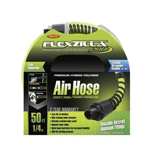 Flexzilla Heavy Duty Lightweight MNPT Fittings Pro Air Hose, 1/4 Inch x 50 Feet - image 1 of 4