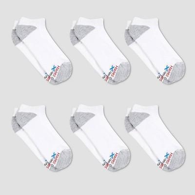 Hanes Premium Men's X-Temp Breathable No Show Socks 6pk - 6-12