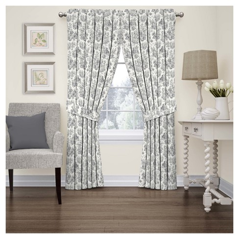 Charmed Life Floral Curtain Panel - Waverly - image 1 of 3