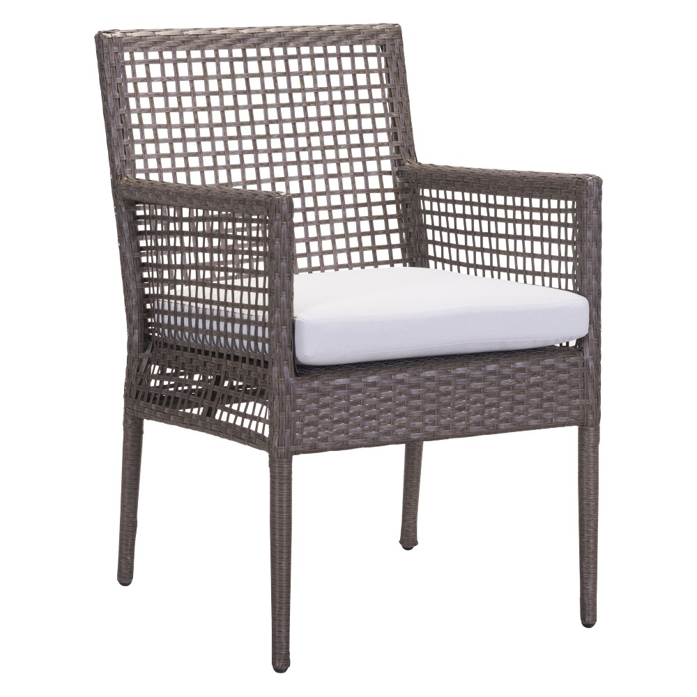 2pk Modern Cabana Style Dining Chair Cocoa/Light Gray - ZM Home