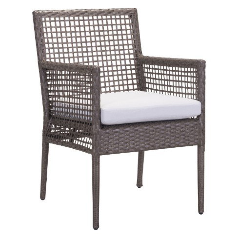 Strange 2Pk Modern Cabana Style Dining Chair Cocoa Light Gray Zm Home Caraccident5 Cool Chair Designs And Ideas Caraccident5Info