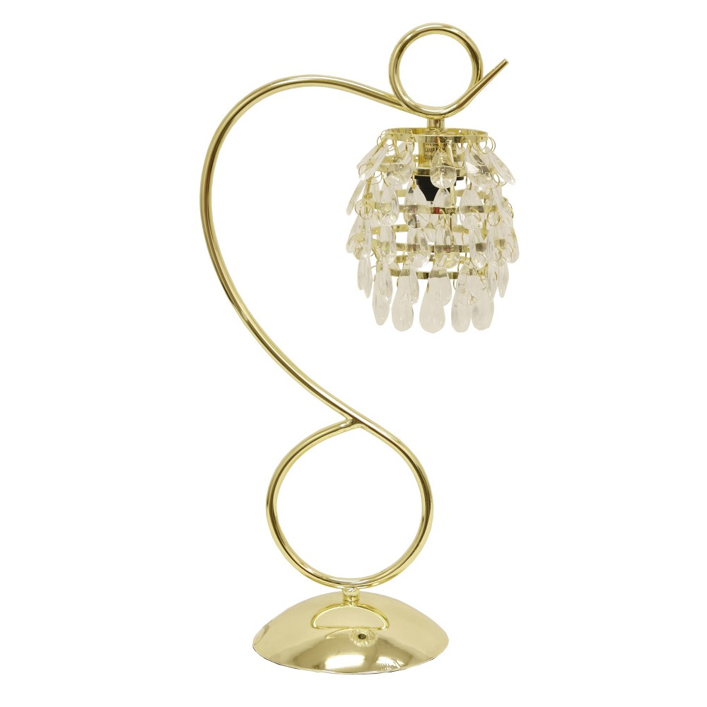 Halle Crystal Dangles Accent Lamp Clear - Decor Therapy