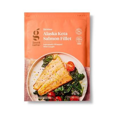 Alaska Keta Salmon Skinless Fillets - Frozen - 24oz - Good & Gather™