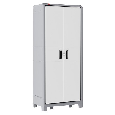 Optima Wonder™ Indoor Tall Utility Storage Cabinet - White And Gray - Keter