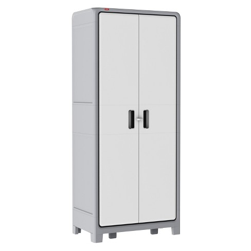 Optima Wonder™ Indoor Tall Utility Storage Cabinet - White And Gray - Keter - image 1 of 11