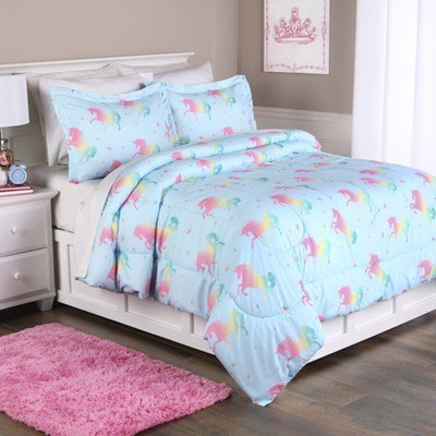 Lakeside Unicorn Bedding Comforter Set with Pillowcases - Children's Bed Array