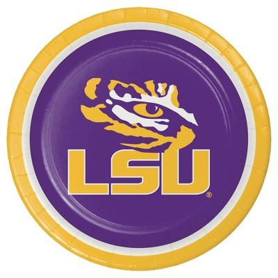 "8ct Louisiana State University 9"" Paper Plates - NCAA"