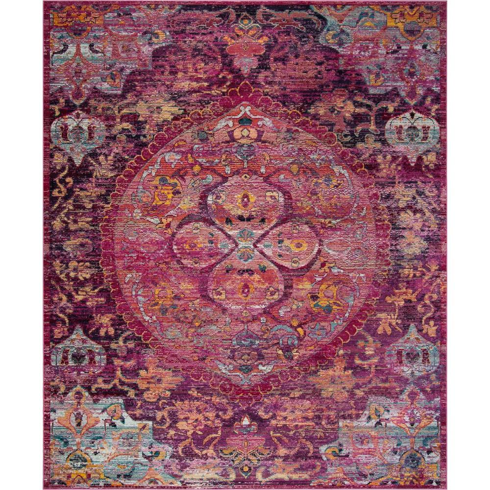 9'X12' Medallion Area Rug Fuchsia/Purple (Pink/Purple) - Safavieh