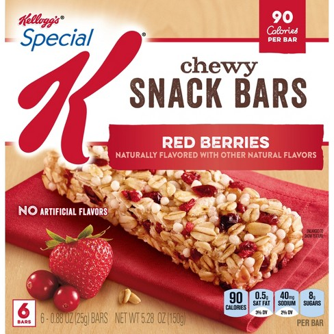 kellogg s special k red berries chewy snack bars 6ct 88oz target