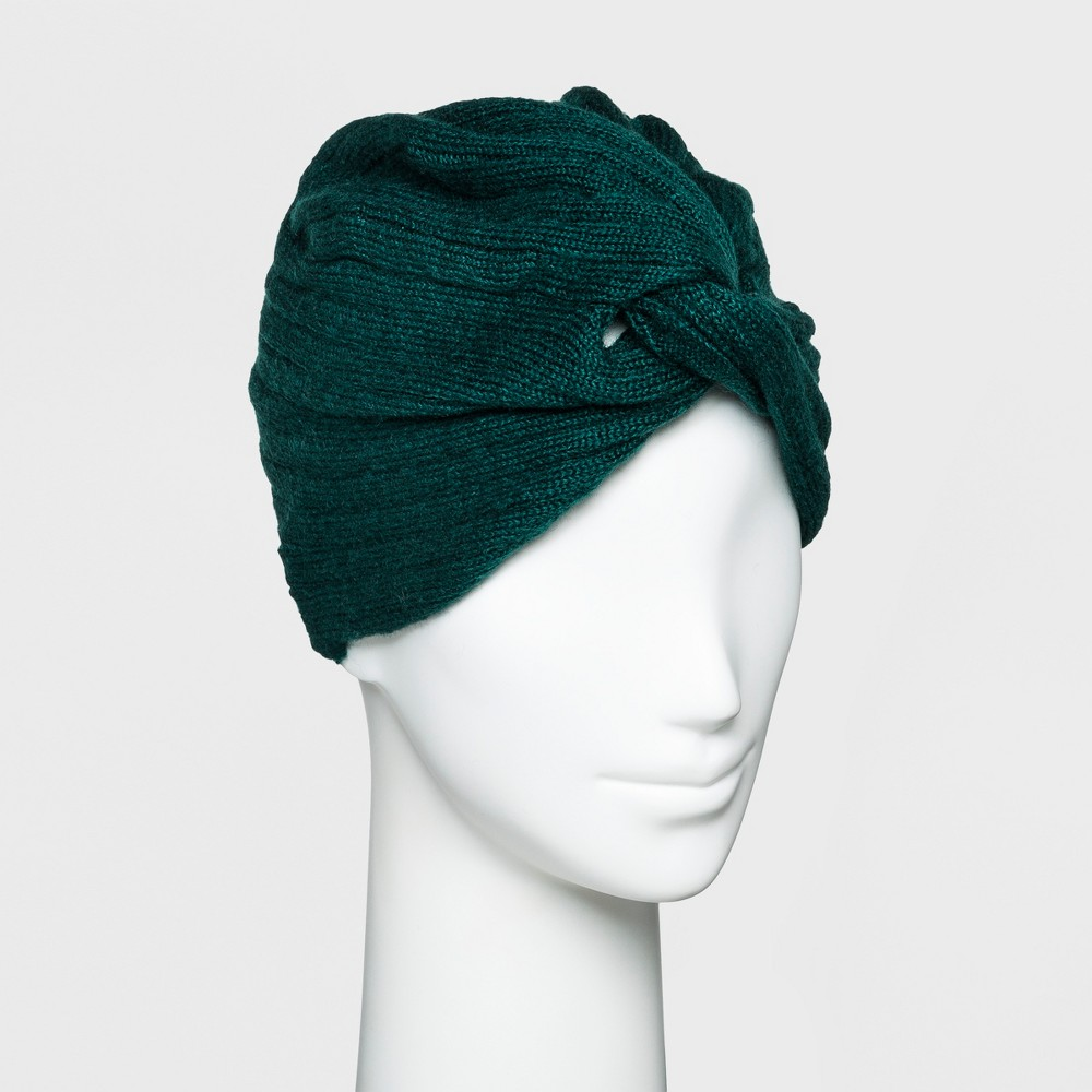 1940s Hairstyles- History of Women's Hairstyles Womens Textured Turban - A New Day Green Green Marker $7.49 AT vintagedancer.com