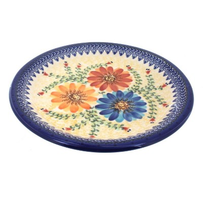 Blue Rose Polish Pottery Autumn Burst Dinner Plate