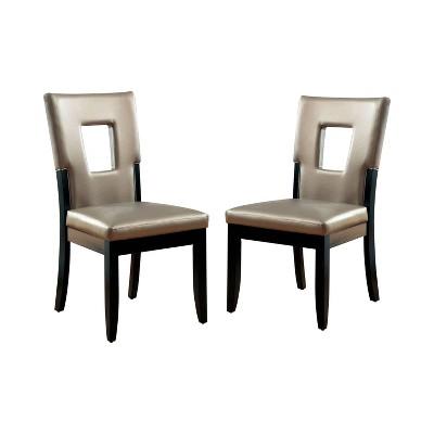 Set of 2 Brunston Rectangular Hole Back Side Chair Espresso - HOMES: Inside + Out