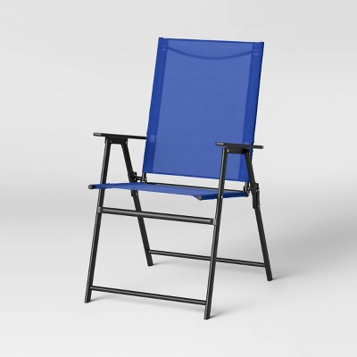 Sling Folding Patio Accent Chair - Blue - Room Essentials™