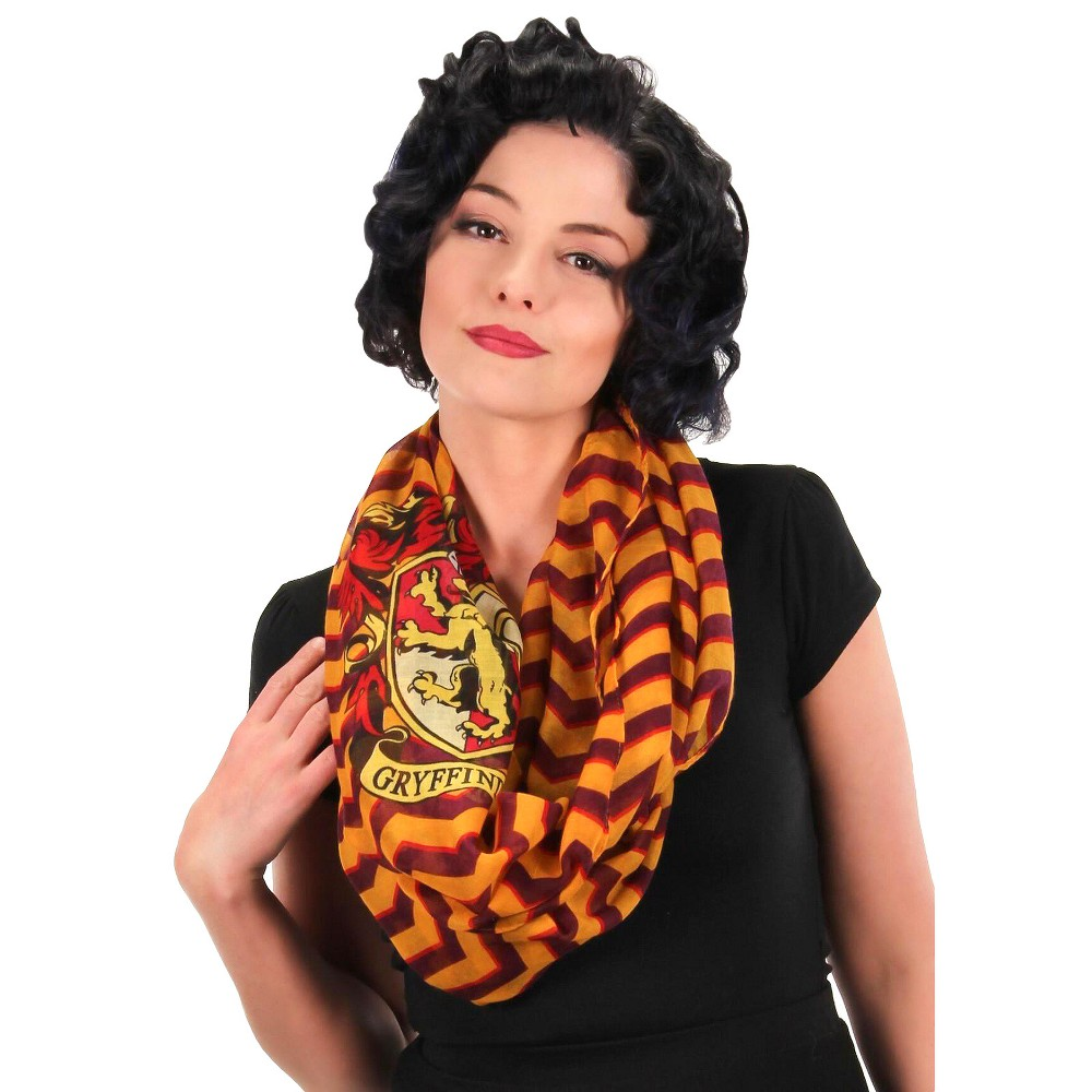 Harry Potter Gryffindor Infinity Scarf One Size, Adult Unisex