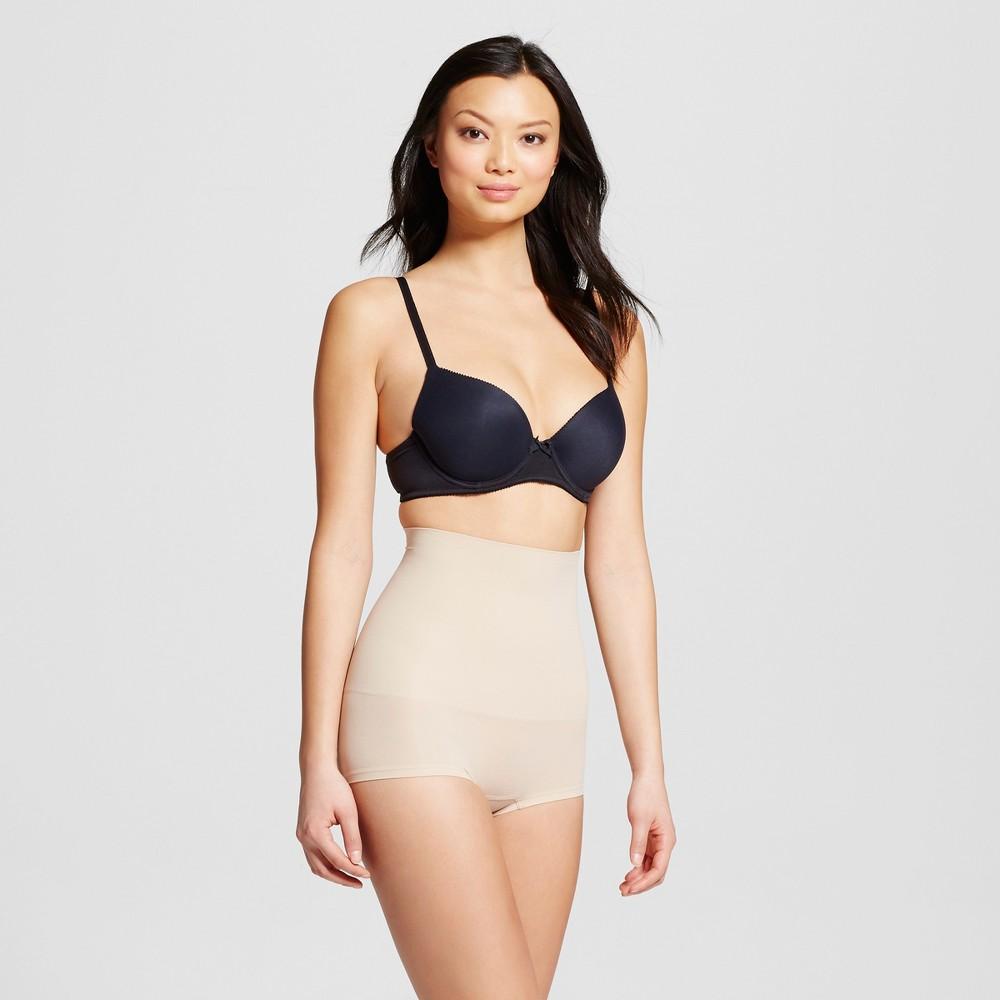 Maidenform Self Expressions Women's Seamless High Waist Boyshorts - Paris Nude Beige 2XL, Size: Xxl