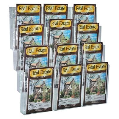 Azar 12-Pocket Bifold Wall Mount Brochure Holder