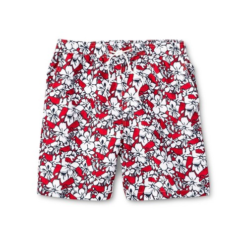 16428ec1bd Men's Hibiscus Whale Swim Trunks - Red/Navy - vineyard vines® for Target