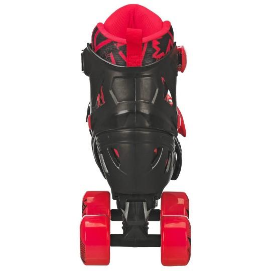 Roller Derby Trac Star Youth Boy's Adjustable Roller Skate - Grey/Black/Red - Large (3-6), Boy's, Black Red image number null