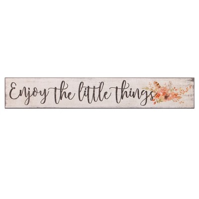 6 x36  Enjoy The Little Things Rustic Wood Wall Art White - Patton Wall Decor