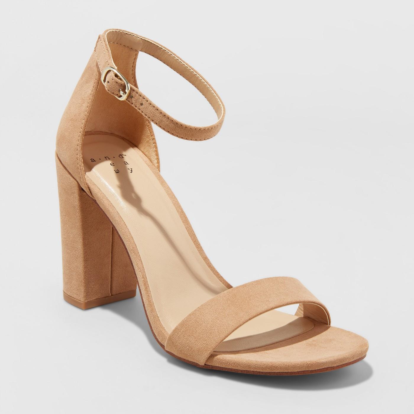 Women's Ema High Block Heel Pumps - A New Day™ - image 1 of 3