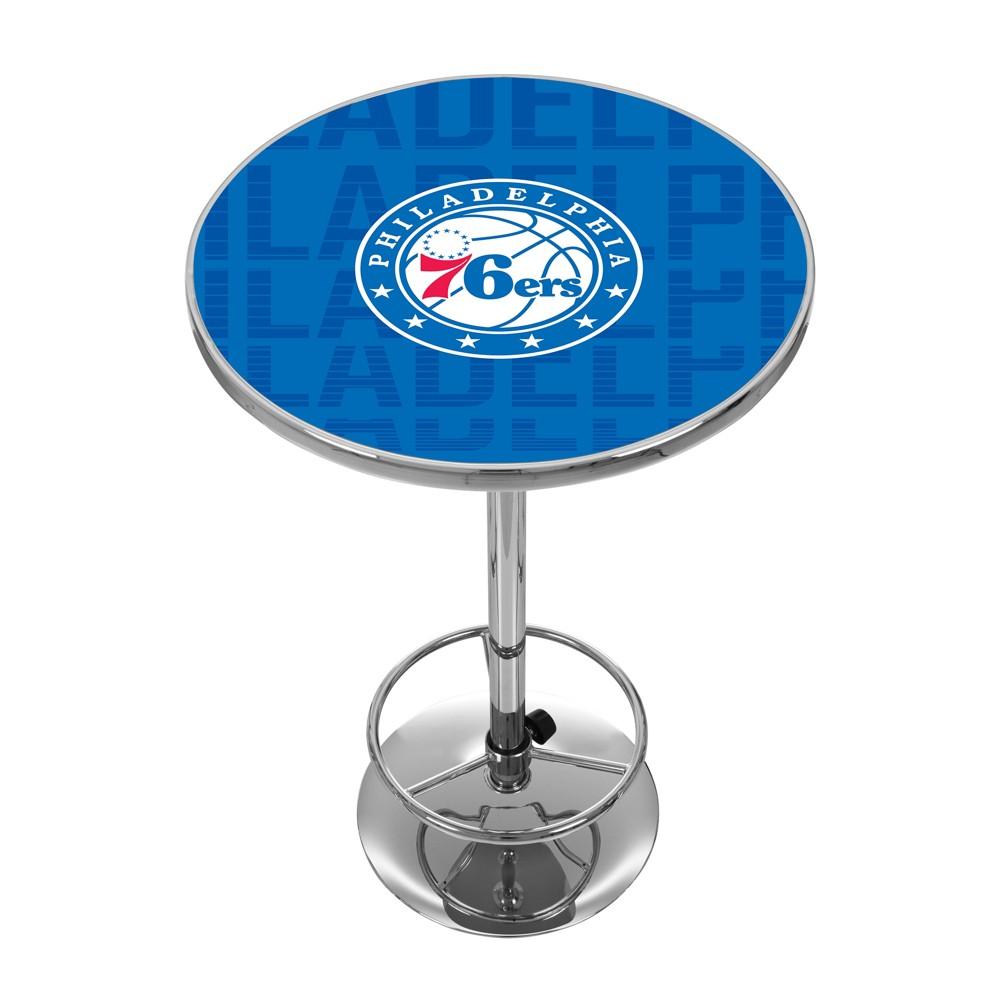 NBA Philadelphia 76ers City Chrome Pub Table
