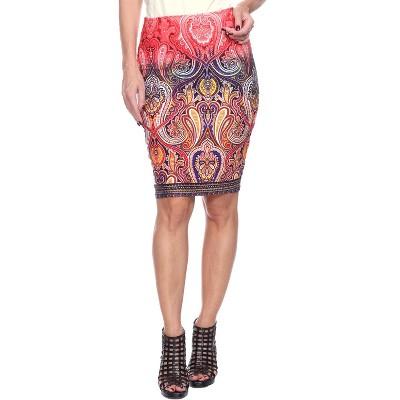 Women's Knee Length Pencil Skirt - White Mark
