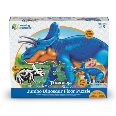 Learning Resources Jumbo Dinosaur: Triceratops Floor Puzzle - 20pc