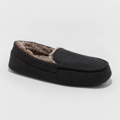 Men's Kairo Moccasin Slippers - Goodfellow & Co™ Charcoal Gray M