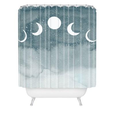 Hello Twiggs Cosmos Shower Curtain Blue - Deny Designs