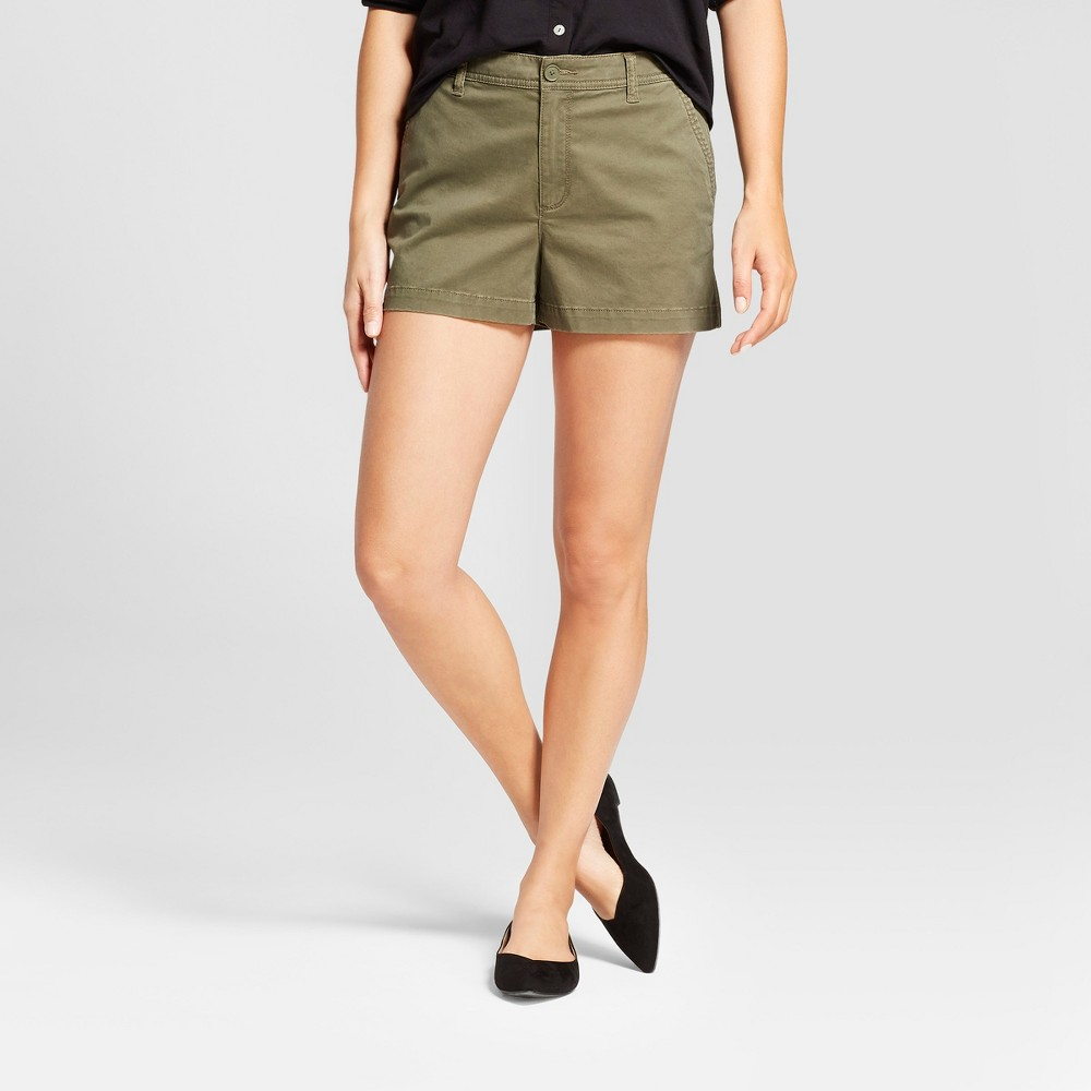 Women's 3 Chino Shorts - A New Day Green 18