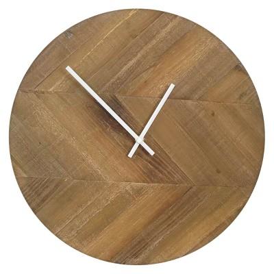 20.5  H Iron Outdoor Clock - Brown - Smith & Hawken™