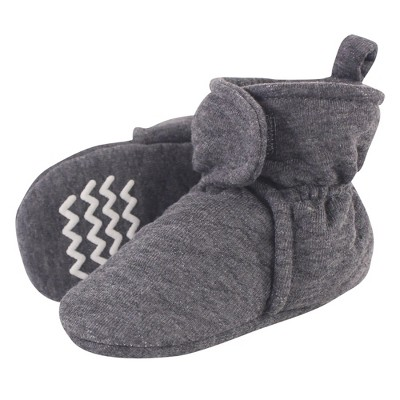 Hudson Baby Baby and Toddler Quilted Booties, Charcoal