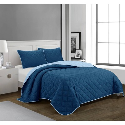 Casa Solid Quilt Set - Idea Nuova