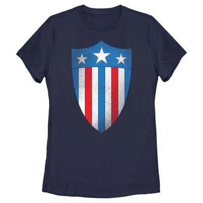 Women's Marvel Avengers Captain America USO Shield T-Shirt