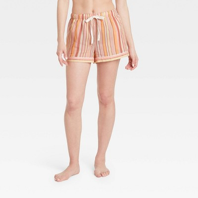 Women's Striped Simply Cool Pajama Shorts - Stars Above™ Pink