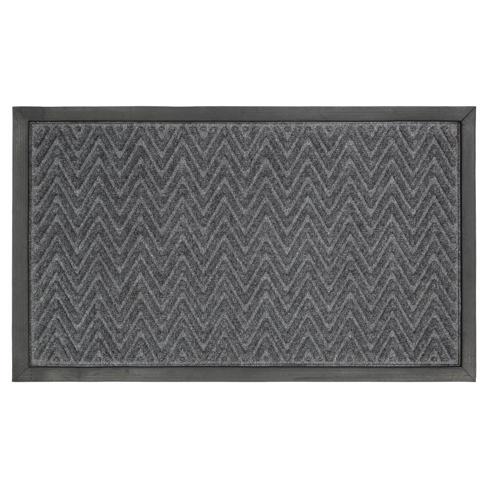 "Image of ""1'6""""x2'6"""" Gateway Utility Doormat Charcoal - Mohawk"""