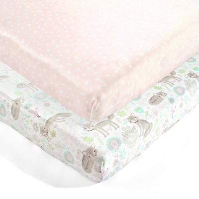 Lush Décor Pixie Fox Microplush Fitted Crib Sheet - 2pk