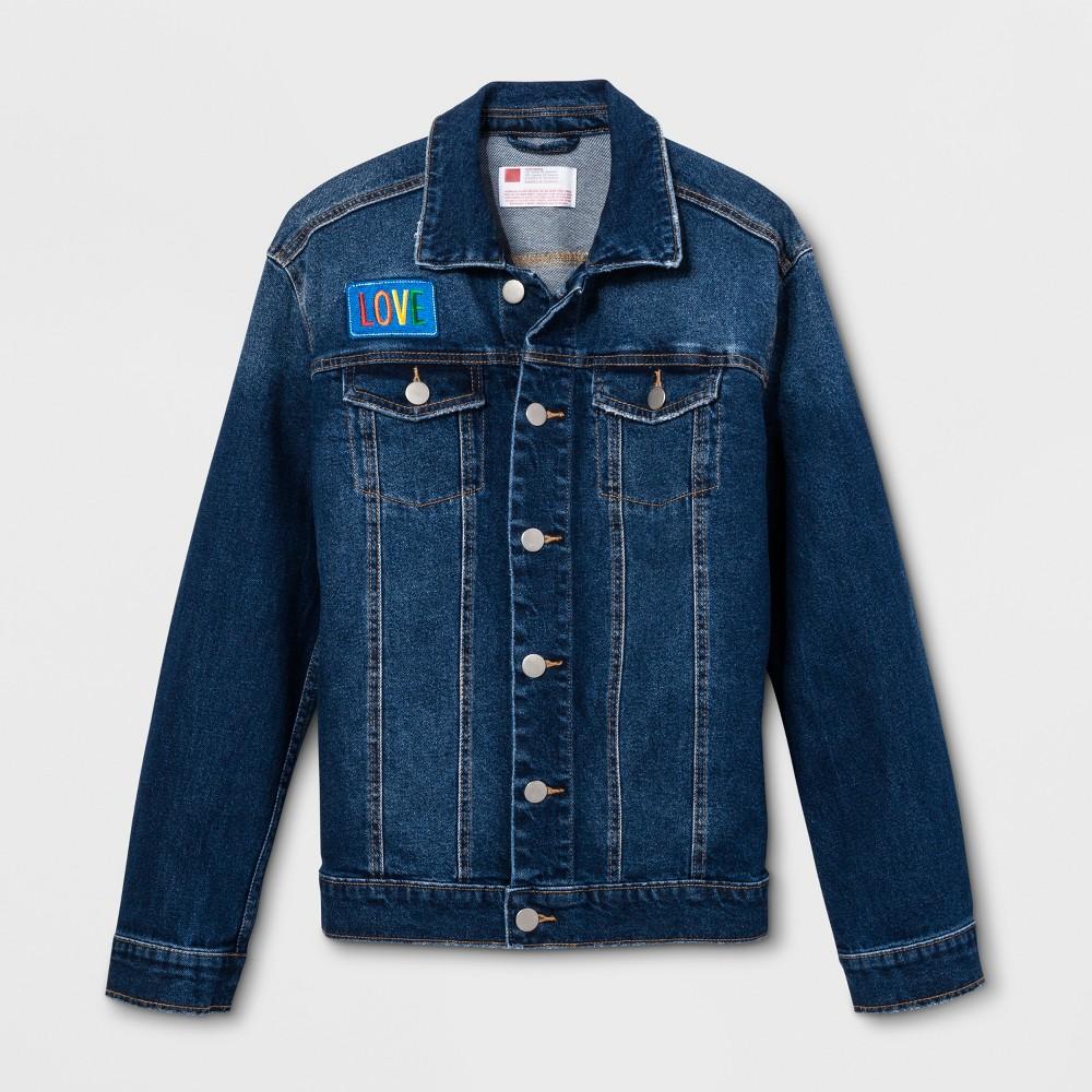 Pride Adult Gender Inclusive Denim Jacket - Medium Blue XL, Women's