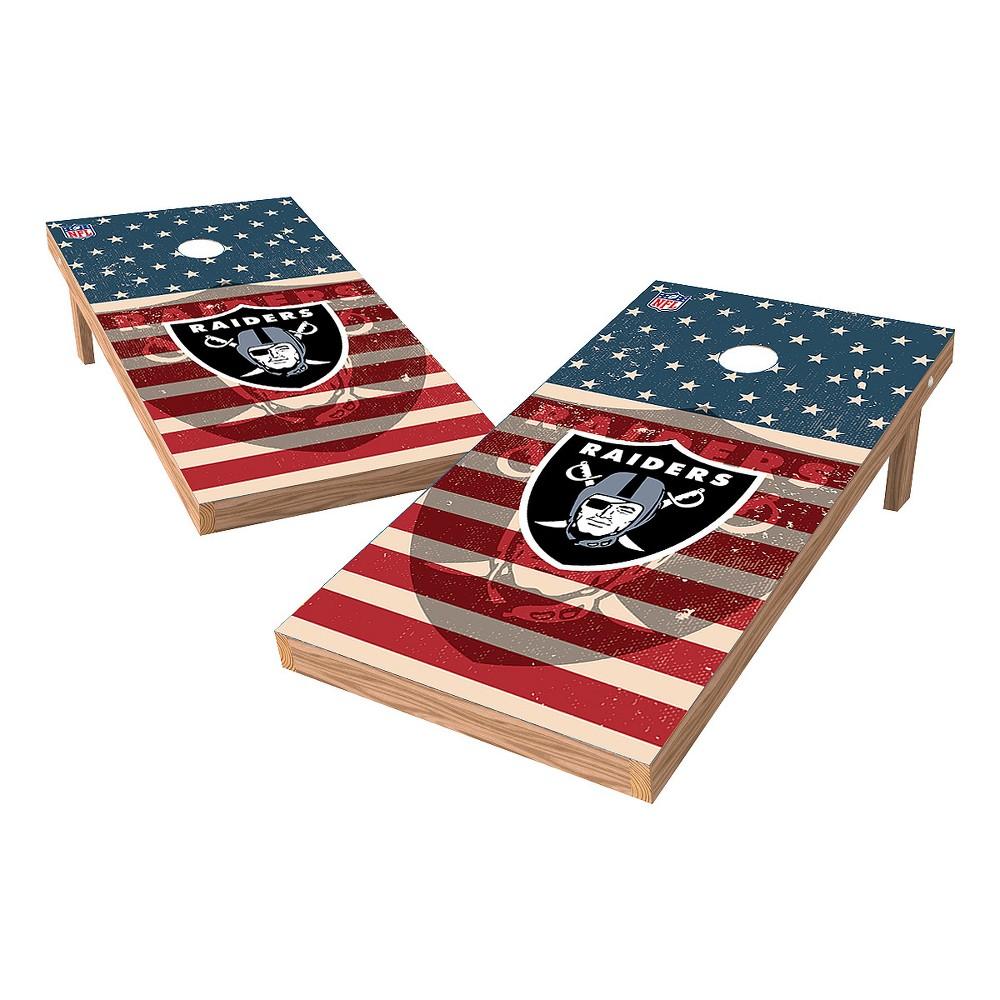 NFL Oakland Raiders Wild Sports 2x4 Tailgate Toss Cornhole Shield - Stars and Stripes