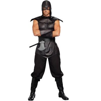 Executioner Adult Men/'s Costume Hooded Black Tunic Halloween Underwraps