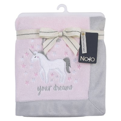 NoJo Unicorn Super Soft Appliqued Baby Blanket