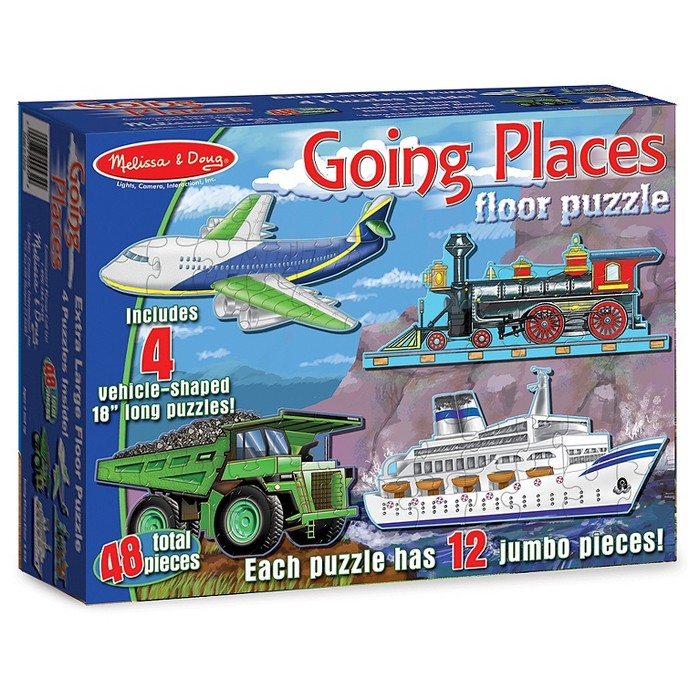 Melissa And Doug Going Places Vehicles Floor Puzzles 48pc - image 1 of 3