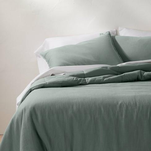 Heavyweight Linen Blend Comforter & Sham Set - Casaluna™ - image 1 of 4