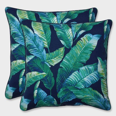 16.5  2pk Hanalai Lagoon Throw Pillows Blue - Pillow Perfect