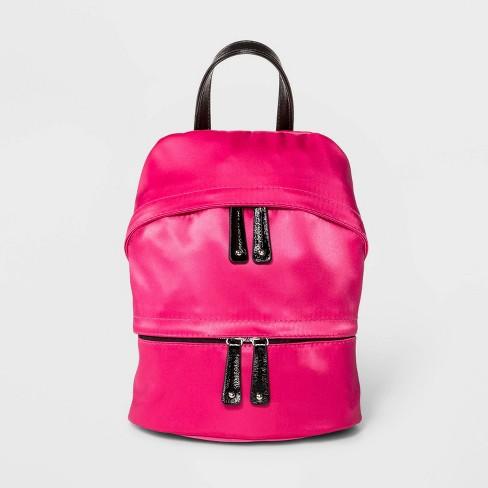 Stella & Max Multi Zip Closure Slack Backpack- Pink - image 1 of 4