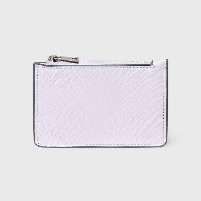 Zip Closure Small Card Case - A New Day™ Lilac