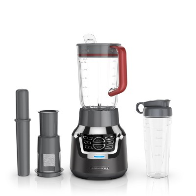 BLACK+DECKER Infuser 3-In-1 Digital PowerCrush Blending System With 6 Cup Tritan Jar & 18oz Tritan Personal Jar BL1350DP-P