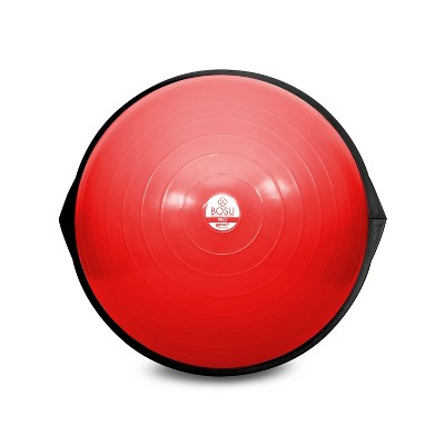 BOSU 26 Inch Pro Balance Trainer Ball Exercise Fitness Gym Equipment for Yoga, Sports, Personal Trainer, Rehabilitation, & Physical Therapy, Red/Black