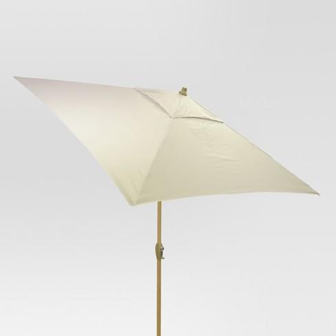 6.5' Square Umbrella - Linen - Light Wood Finish - Threshold™ - image 1 of 3
